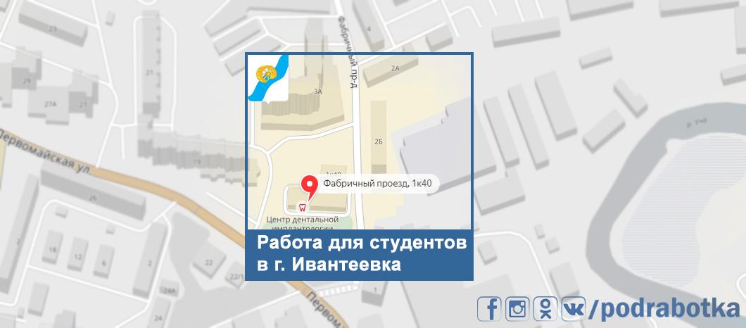 Карта Ивантеевка